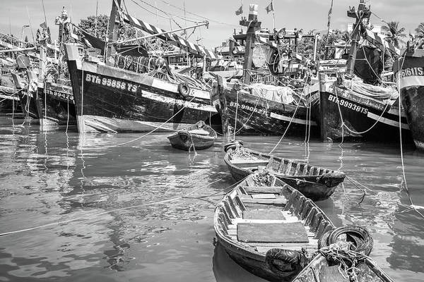 Photograph - Boats Phan Thiet by Gary Gillette