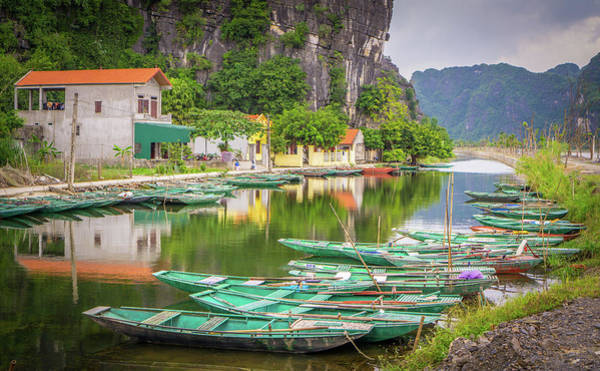 Photograph - Boats Tam Coc Vietnam by Gary Gillette