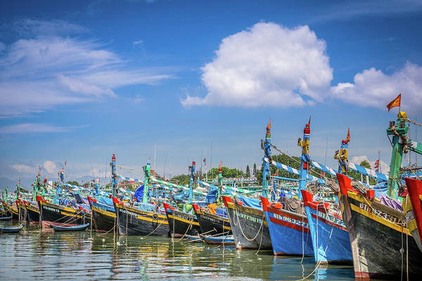 Photograph - Boats  Vietnam by Gary Gillette