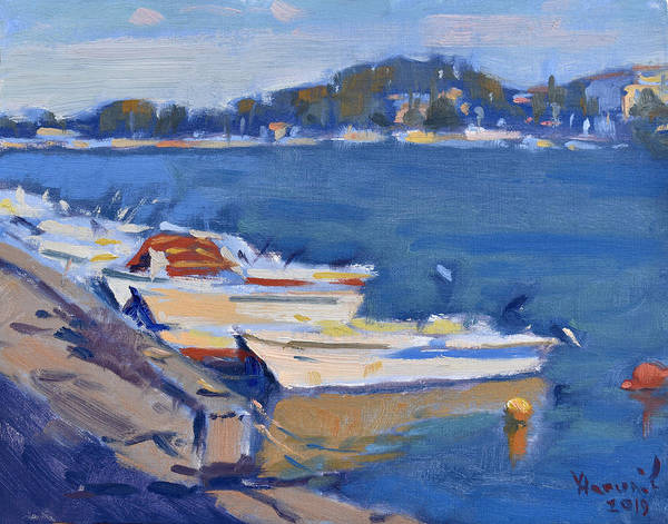 Wall Art - Painting - Boats by Ylli Haruni