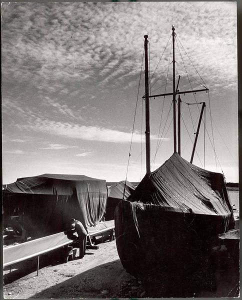 Photograph - Boatyard On Marthas Vineyard In Winter by Alfred Eisenstaedt