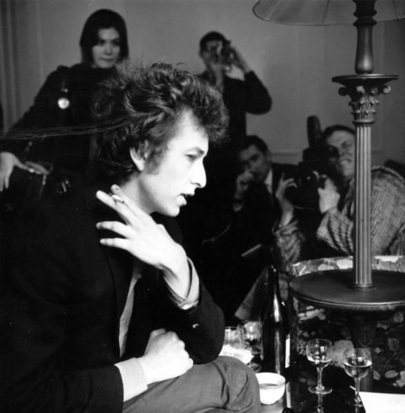 Talking Photograph - Bob Dylan 1965 by Evening Standard