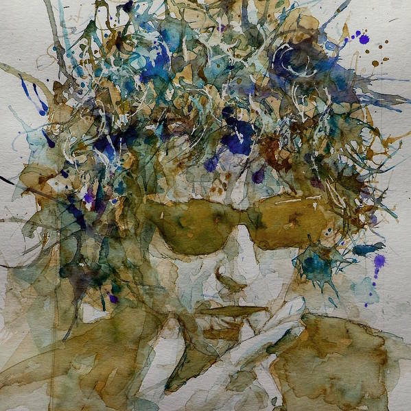 Folk Painting - Bob Dylan - Knocking On Heavens Door by Paul Lovering