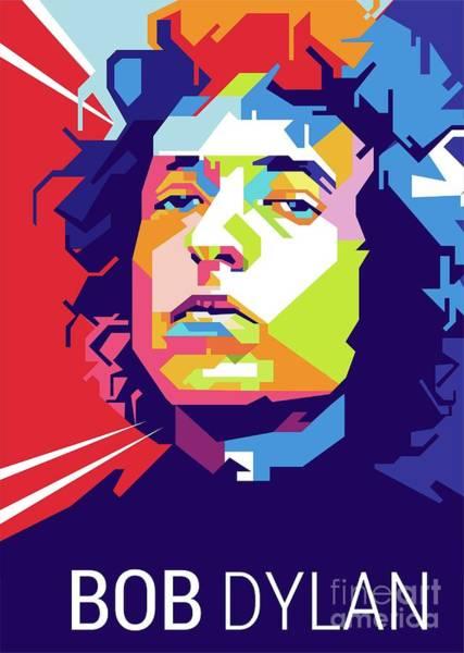 Bob Dylan Digital Art - Bob Dylan Popart by Gilar Artoholic