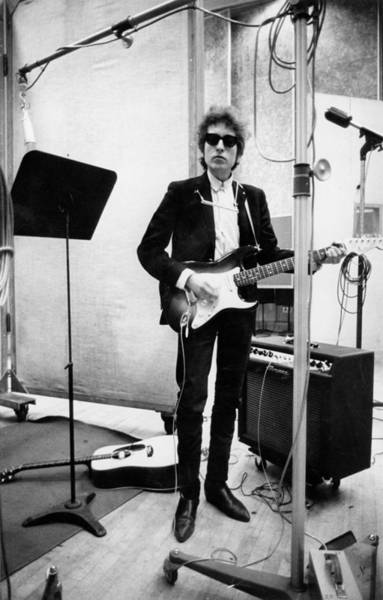 Stratocaster Photograph - Bob Dylan Records Bringing It All Back by Michael Ochs Archives