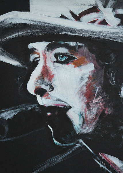 Wall Art - Painting - Bob Dylan Rolling Thunder by Melissa O'Brien