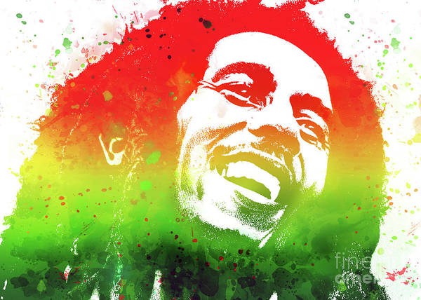 Digital Art - Bob Marley by Ian Mitchell