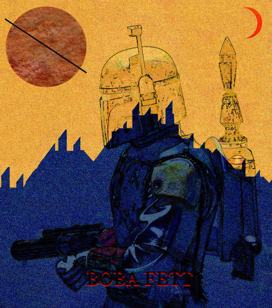 Wall Art - Mixed Media - Boba Fett At Black Spire Outpost by David Lee Thompson