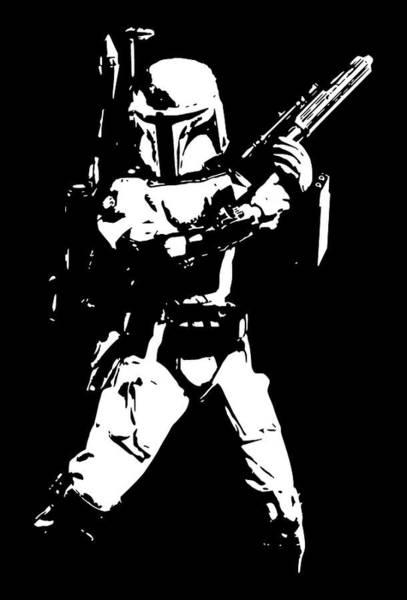 Han Solo Wall Art - Digital Art - Boba Fett Minimalistic Pop Art by Filip Hellman