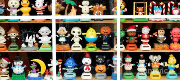 Photograph - Bobbleheads In Store Window In Schroon Lake Ny In Adirondacks by Rose Santuci-Sofranko