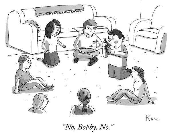 Kiss Drawing - Bobby No by Zachary Kanin