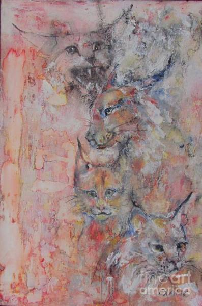 Wall Art - Painting - Bobcats by Diane Reising
