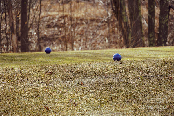 Petanque Wall Art - Photograph - Bocce Balls On Grass by Claudia M Photography