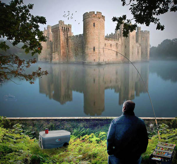 Bodiam Photograph - Bodiam Castle And Moat by Brian Wallace