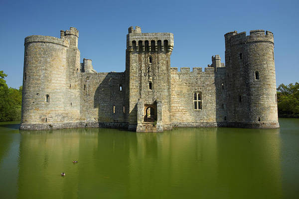 Bodiam Photograph - Bodiam Castle Reflected In Surrounding by David Wall Photo