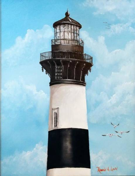 Bodie Painting - Bodie Island Lighthouse by Ron Lunn