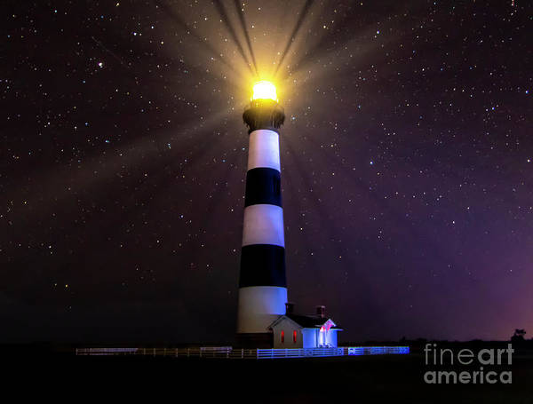 Wall Art - Photograph - Bodie Lighthouse Stars At Night by Norma Brandsberg