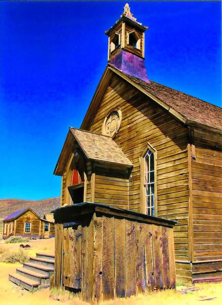 Bodie Digital Art - Bodie Methodist Church by Barbara Snyder