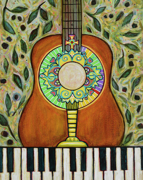 Piano Music Painting - Body And Spirit by Jen Norton