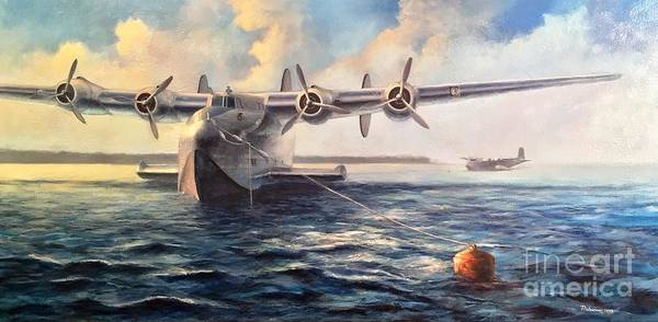 Wall Art - Painting - Boeing 314 Clipper by Stephen Roberson