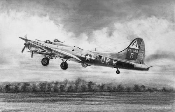 Drawing - Boeing B-17g Drawing by Douglas Castleman