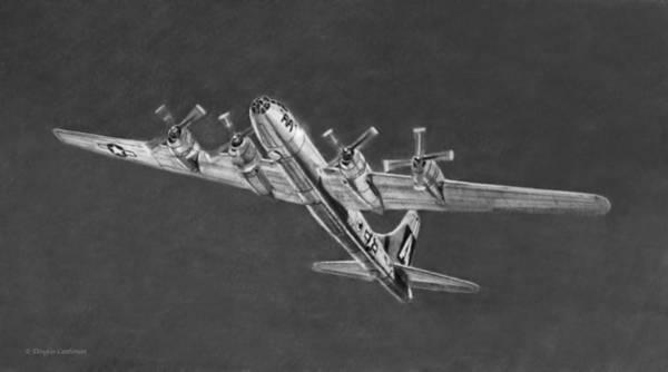 Drawing - Boeing B-29a Fifi by Douglas Castleman