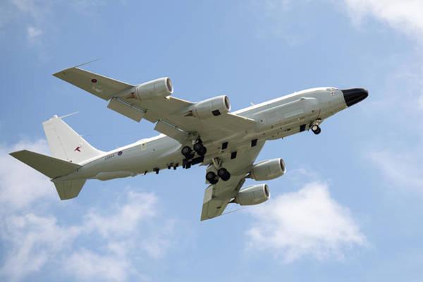Photograph - Boeing Rc-135 Raf Waddington 2014 by Scott Lyons