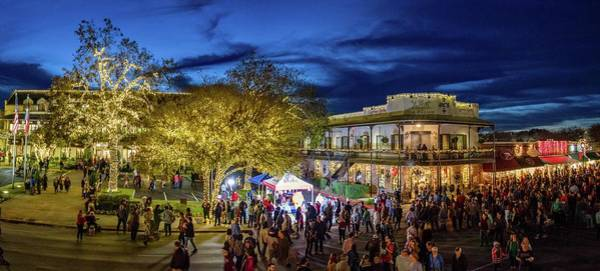 Photograph - Boerne's Dickens On Main Panorama by Lynn Bauer