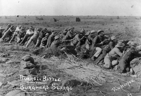 Trench Wall Art - Photograph - Boers In Battle by Van Hoepen