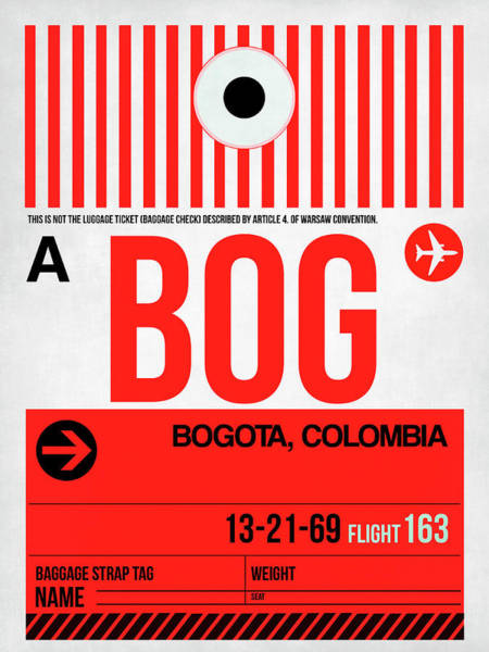 Wall Art - Digital Art - Bog Bogota Luggage Tag I by Naxart Studio