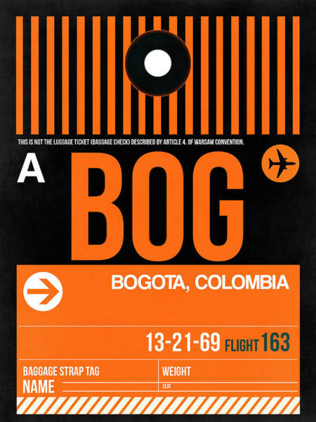 Wall Art - Digital Art - Bog Bogota Luggage Tag II by Naxart Studio