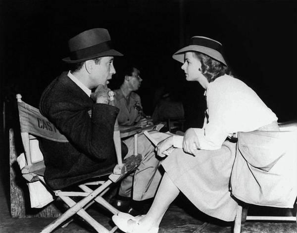 Photograph - Bogart And Bergman - Between Takes by Doc Braham