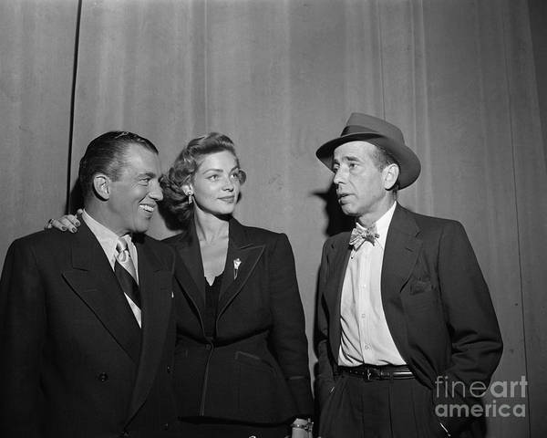 Wall Art - Photograph - Bogey And Bacall On Toast Of The Town by Cbs Photo Archive