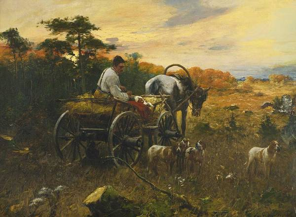 Wall Art - Painting - Bohdan Von Kleczynski 1851 - 1916. Sleigh Ride by Celestial Images