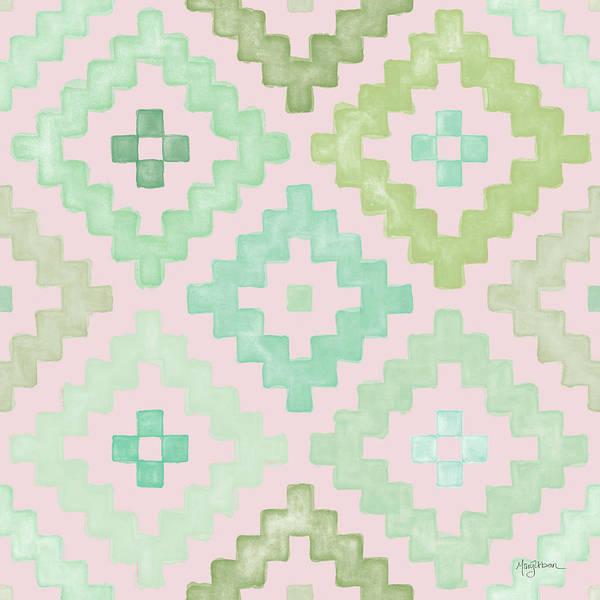 Wall Art - Painting - Bohemian Cactus Step 07 V2 by Mary Urban