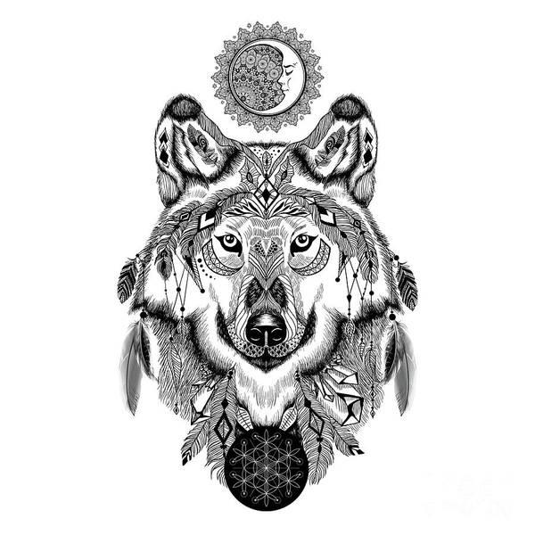 Photograph - Bohemian Celestial Wolf by Sharon Mau