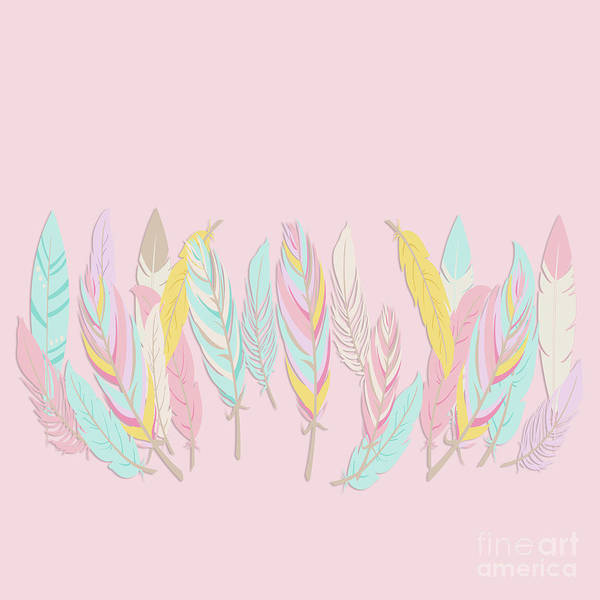 Wall Art - Photograph - Bohemian Feathers Sweet Pink by Sharon Mau