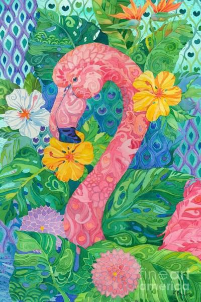 Wall Art - Painting - Bohemian Flamingo by Paul Brent