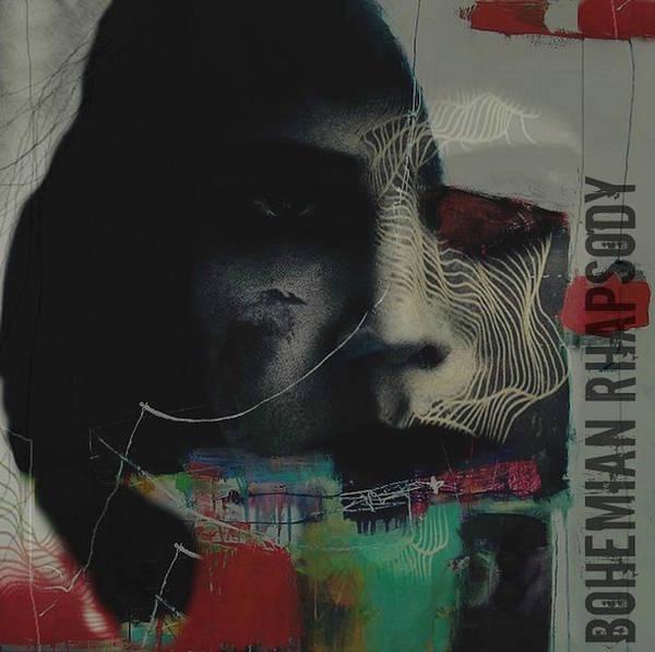 Vocalist Wall Art - Mixed Media - Bohemian Rhapsody - Freddie Mercury by Paul Lovering