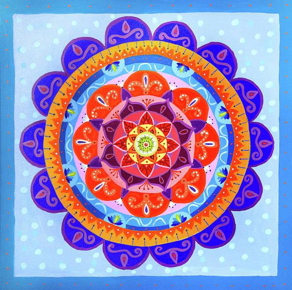 Painting - Bohemian Summer Mandala by Astrid Haszprunarova