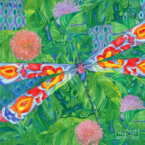Wall Art - Painting - Boho Dragonfly by Paul Brent