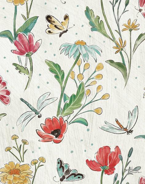 Wall Art - Painting - Boho Field Pattern Va by Janelle Penner