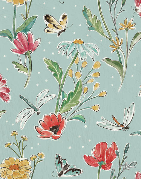 Wall Art - Painting - Boho Field Pattern Ve by Janelle Penner