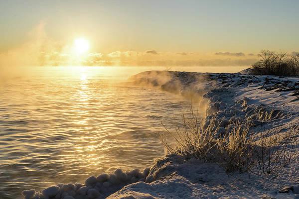 Photograph - Boiling Lake Ontario For Breakfast - I I by Georgia Mizuleva