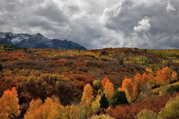 Photograph - Boiling Sky Over Dallas Divide Fall Colors by Ray Mathis