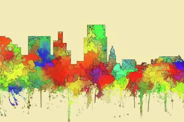 Wall Art - Digital Art - Boise City Skyline Watercolor 2 by Watson Mckeating