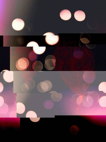 Photograph - Bokeh Abstract, Black, Pink, Rose, Gold by Itsonlythemoon