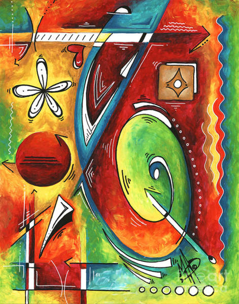 Wall Art - Painting - Bold Abstract Symbolic Inspirational Original Painting Follow Your Path By Madart by Megan Duncanson