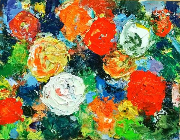 Painting - Bold Flowers by Constance Paul