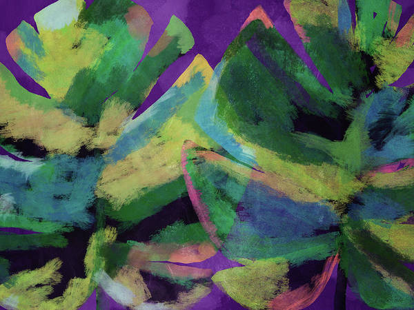 Leafs Mixed Media - Bold Tropical Dreams- Art By Linda Woods by Linda Woods